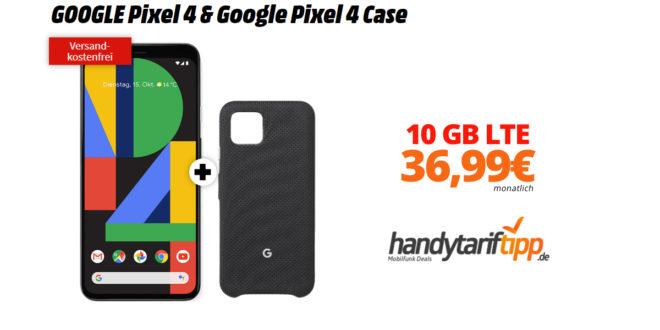 GOOGLE Pixel 4 & Google Pixel 4 Case mit 10 GB LTE nur 36,99€