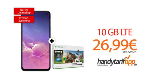 Galaxy S10e & Xbox one S 1TB mit 10 GB LTE nur 26,99€