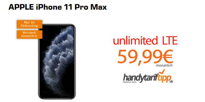 iPhone 11 Pro Max mit unlimited LTE nur 59,99€