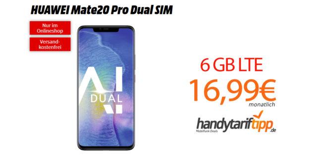 Mate20 Pro mit 6 GB LTE im Telekom Netz nur 16,99€