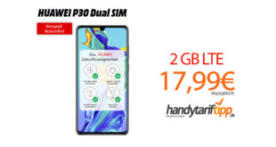 HUAWEI P30 mt 2GB LTE nur 17,99€