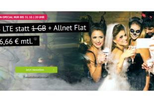 Allnet-Flat & 3 GB LTE & monatlich kündbar für 6,66€