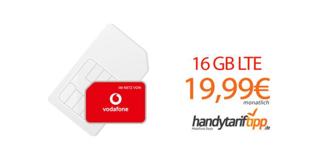 LTE 16 GB im Vodafone Netz nur 19,99€