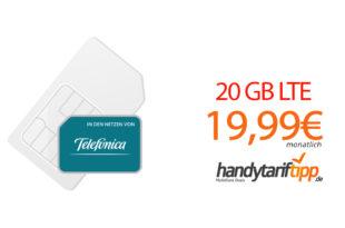 20 GB LTE (monatlich kündbar) nur 19,99€