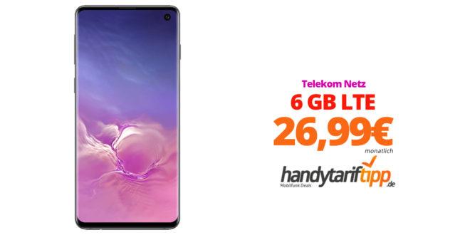 Galaxy S10 mit 6 GB LTE Telekom nur 26,99€
