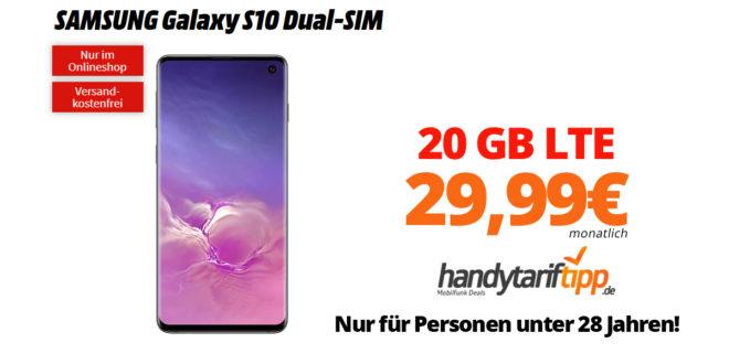 Galaxy S10 mit 20 GB LTE nur 29,99€