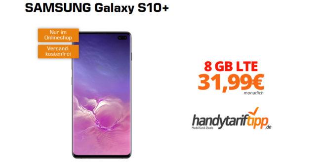 Galaxy S10+ mit 8 GB LTE im Telekom Netz nur 31,99€