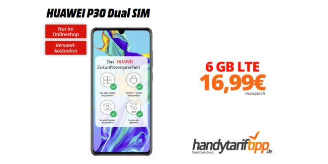 HUAWEI P30 mit 6 GB LTE im Telekom Netz nur 16,99€