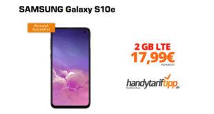SAMSUNG Galaxy S10e mit 2 GB LTE nur 17,99€