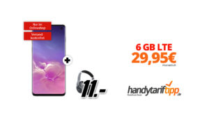 Samsung Galaxy S10 & AKG N700NC mit 6 GB LTE im Telekom Netz nur 29,95€