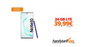Galaxy Note10 mit 24 GB LTE nur 39,99€