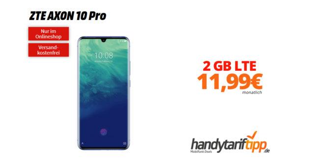 ZTE AXON 10 Pro mit 2 GB LTE nur 11,99€