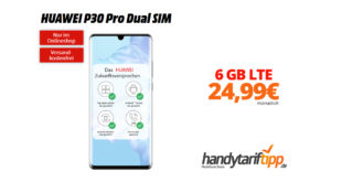 HUAWEI P30 Pro mit 6 GB LTE nur 24,99€