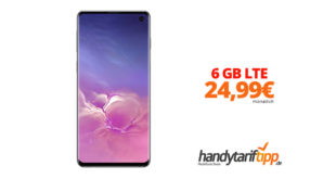 SAMSUNG Galaxy S10 Dual-SIM mit 6 GB LTE nur 24,99€