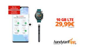 HUAWEI P30 Pro & Huawei Watch GT Active & Huawei Silikon Armband mit 10 GB LTE nur 29,99€