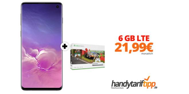 Galaxy S10 & Xbox One S 1TB mit 6 GB LTE im Telekom Netz nur 21,99€