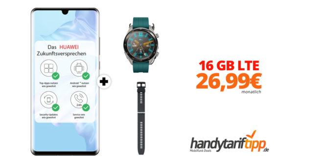 HUAWEI P30 Pro & Watch GT Active mit 16 GB LTE nur 26,99€