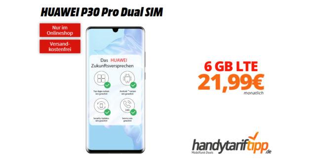 HUAWEI P30 Pro mit 6 GB LTE im Telekom Netz nur 21,99€