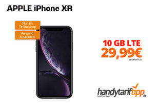APPLE iPhone XR mit 10 GB LTE nur 29,99€