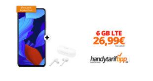 HUAWEI Nova 5T & Huawei Freebuds Lite mit 6 GB LTE im Telekom Netz nur 26,99€