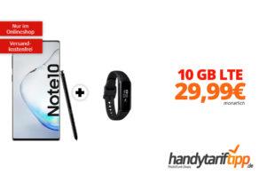 Galaxy Note10 & Galaxy Fit e mit 10 GB LTE nur 29,99€