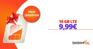 10 GB LTE Allnet monatlich kündbar nur 9,99€