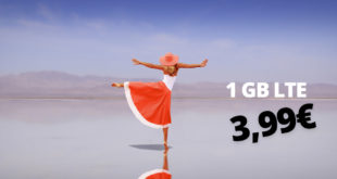 Allnet-Flat & 1 GB LTE & monatlich kündbar nur 3,99€