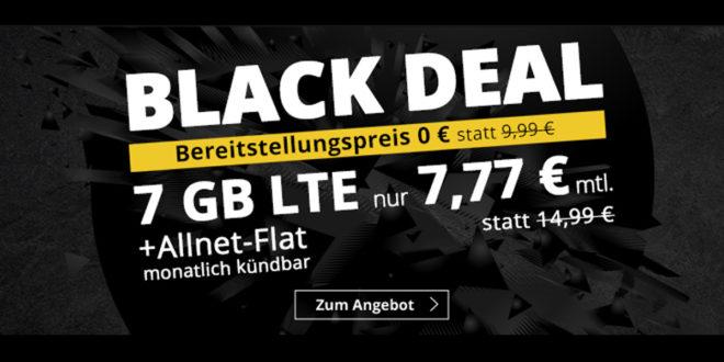 7 GB LTE & Allnet-Flat & monatlich kündbar- nur 7,77€