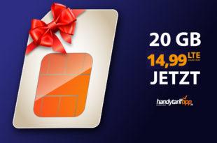 20 GB LTE Allnet Flat für nur 14,99€ - monatlich kündbar!