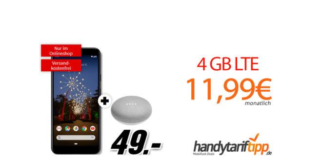 Google Pixel 3a & Google Home Mini mit 4GB LTE nur 11,99€