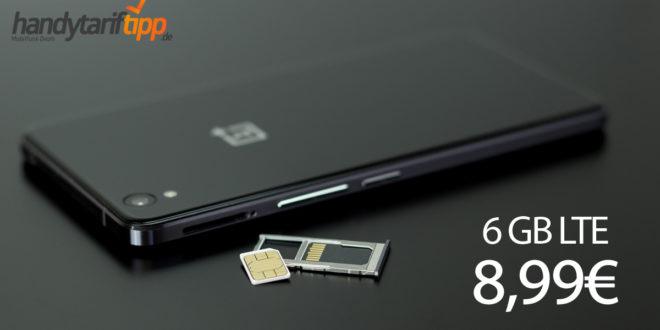6 GB LTE Allnet monatlich kündbar nur 8,99€