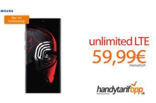 Galaxy Note10+ Star Wars Special Edition mit unlimited LTE nur 59,99€
