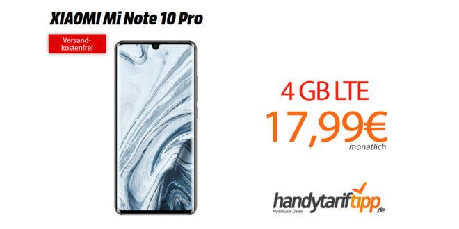 XIAOMI Mi Note 10 Pro mit 4GB LTE nur 17,99€