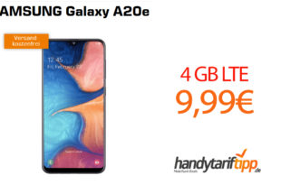 SAMSUNG Galaxy A20e mit 4GB LTE nur 9,99€