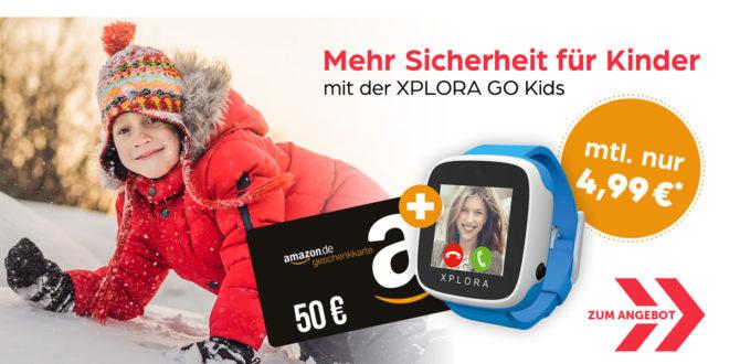 GPS-SMARTWATCH FÜR KINDER mit 60€ Amazon Gutschein 4,99€ mtl.