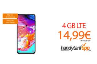 Galaxy A70 mit 4 GB LTE nur 14,99€