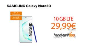 Galaxy Note10 mit 10 GB LTE nur 29,99€