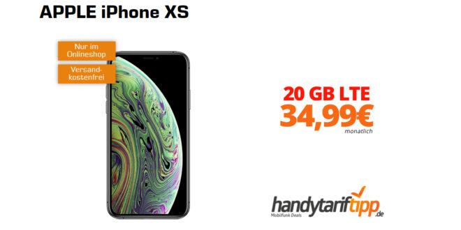 APPLE iPhone XS mit 20 GB LTE nur 34,99€