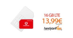 16 GB LTE Allnet Flat im Vodafone-Netz für nur 13,99€