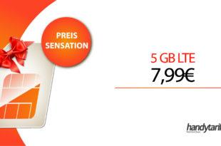 5GB LTE Allnet & monatlich kündbar nur 7,99€