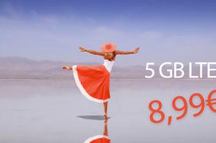 5 GB LTE Allnet & monatlich kündbar nur 8,99€