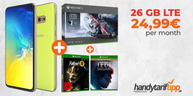 Galaxy S10e & Xbox mit 26 GB LTE nur 24,99€