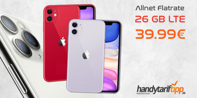 APPLE iPhone 11 mit 26 GB LTE nur 39,99€