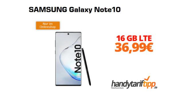 Galaxy Note10 mit 16GB LTE nur 36,99€