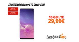 SAMSUNG Galaxy S10 Dual-SIM mit 10GB LTE nur 29,99€