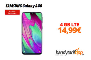 SAMSUNG Galaxy A40 mit 4 GB LTE nur 14,99€