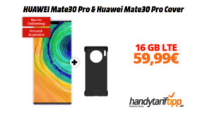 HUAWEI Mate30 Pro & Mate30 Pro Cover mit 16 GB LTE nur 59,99€
