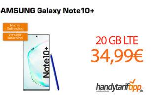 Galaxy Note10Plus mit 20GB LTE nur 34,99€
