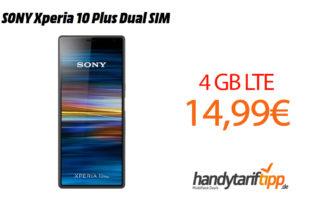 SONY Xperia 10 Plus mit 4 GB LTE nur 14,99€