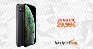 iPhone XS mit 20 GB LTE nur 29,99€